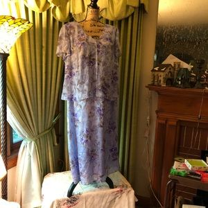 💜 Lavender Coldwater Creek Tiered Dress, 20